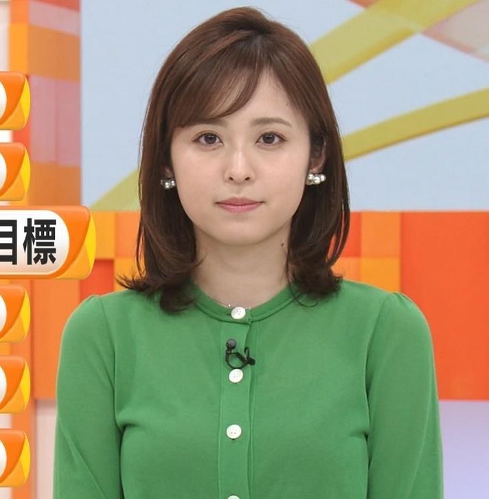 久慈暁子アナ 朝から横乳がエロい放送キャプ・エロ画像8