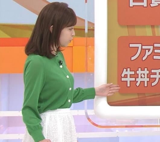 久慈暁子アナ 朝から横乳がエロい放送キャプ・エロ画像10