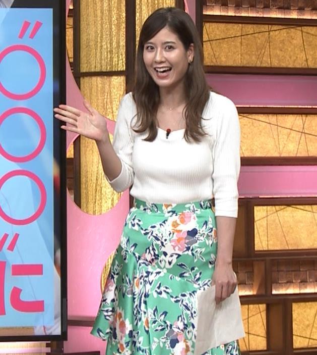 桝田沙也香アナ ニットおっぱいがでかくて揺れた(GIF)キャプ・エロ画像2