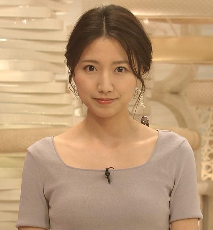 三田友梨佳アナ 薄着でセクシーキャプ・エロ画像5