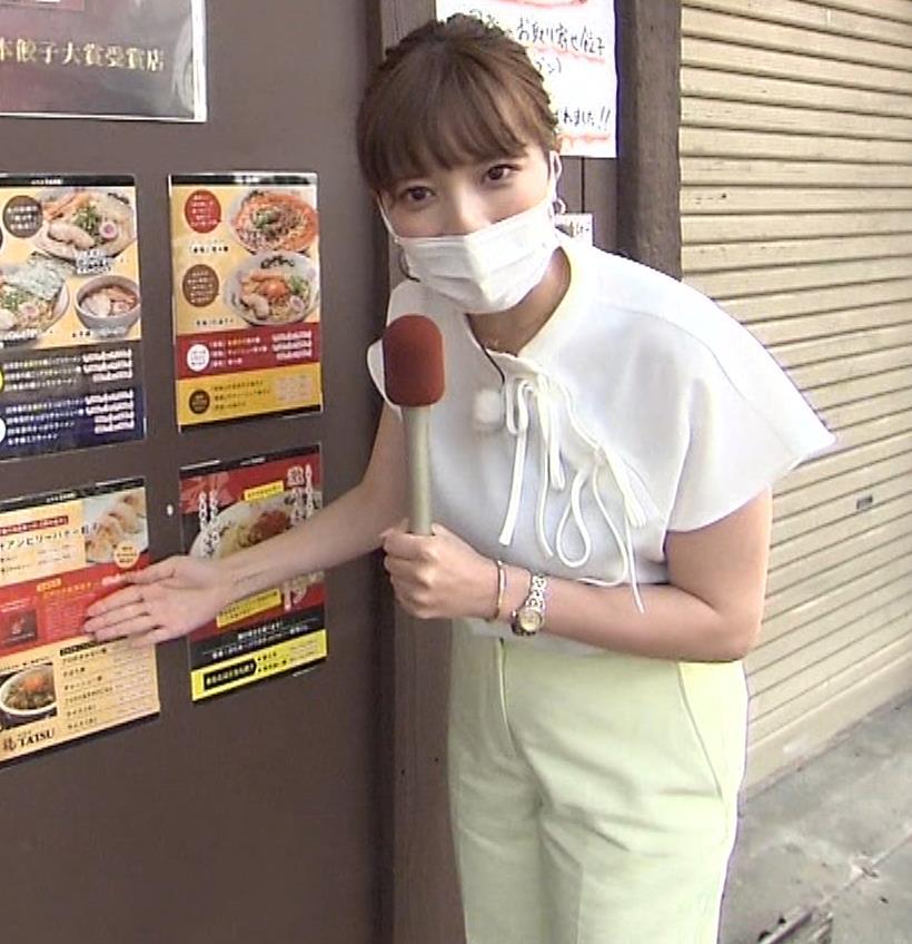 三谷紬アナ 疑似フェラで汁が飛び出るハプニングキャプ・エロ画像