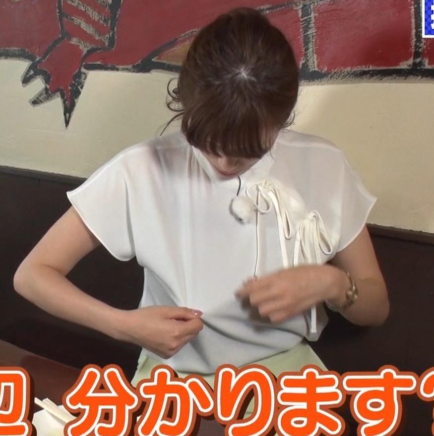 三谷紬アナ 疑似フェラで汁が飛び出るハプニングキャプ・エロ画像11
