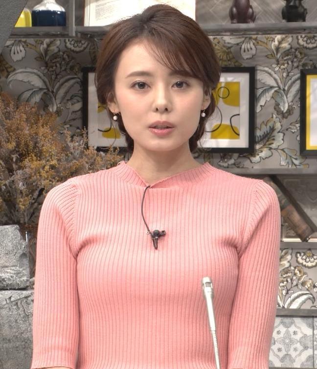 宮澤智アナ ピチピチなニットの横乳がエロ過ぎキャプ・エロ画像