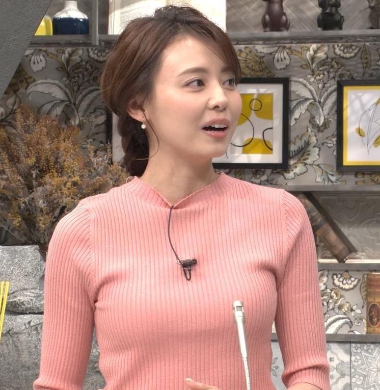 宮澤智アナ ピチピチなニットの横乳がエロ過ぎキャプ・エロ画像2