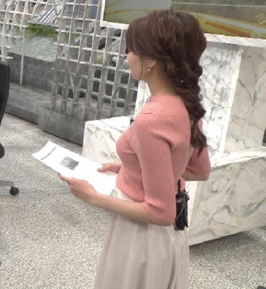 宮澤智アナ ピチピチなニットの横乳がエロ過ぎキャプ・エロ画像3