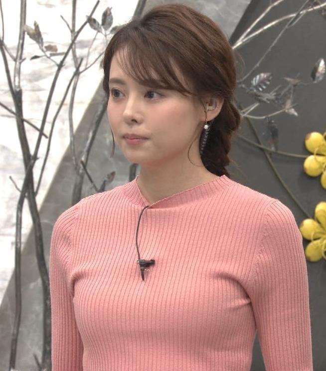 宮澤智アナ ピチピチなニットの横乳がエロ過ぎキャプ・エロ画像4