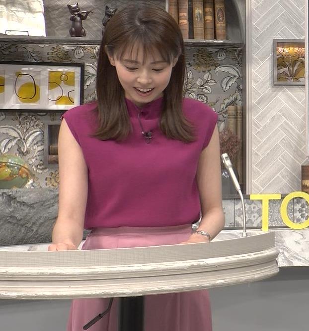 宮澤智アナ ノースリーブの横乳キャプ・エロ画像