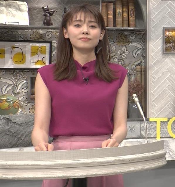 宮澤智アナ ノースリーブの横乳キャプ・エロ画像2