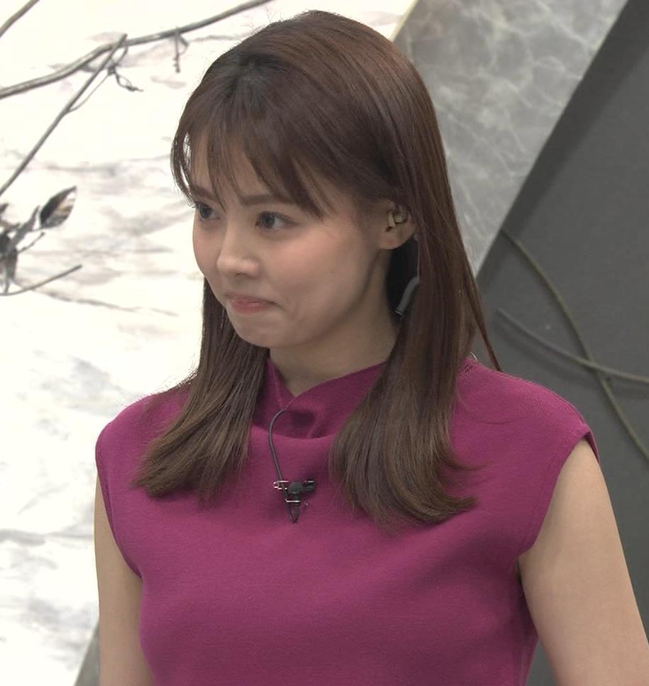 宮澤智アナ ノースリーブの横乳キャプ・エロ画像11