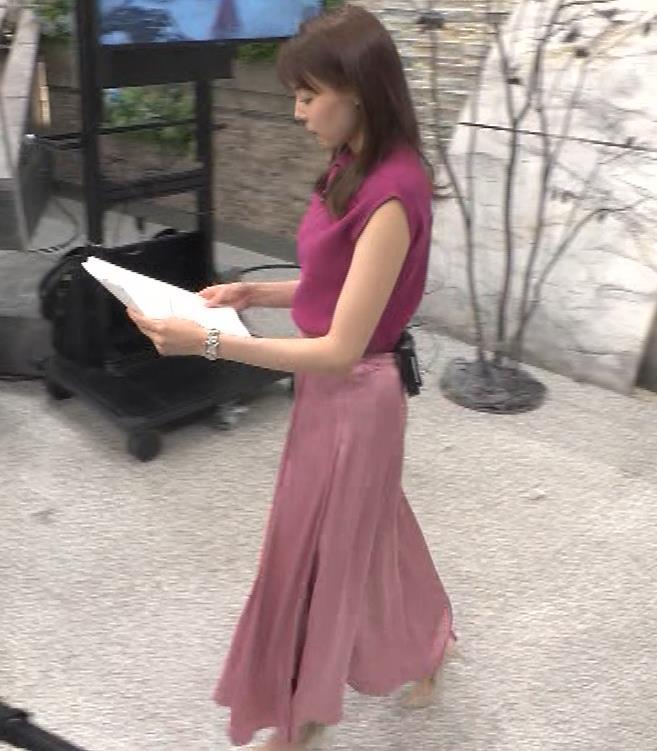 宮澤智アナ ノースリーブの横乳キャプ・エロ画像4
