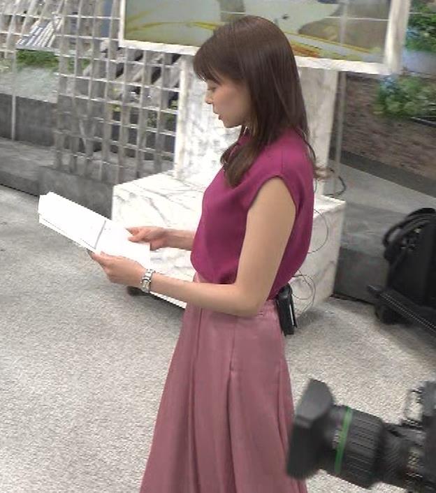 宮澤智アナ ノースリーブの横乳キャプ・エロ画像5