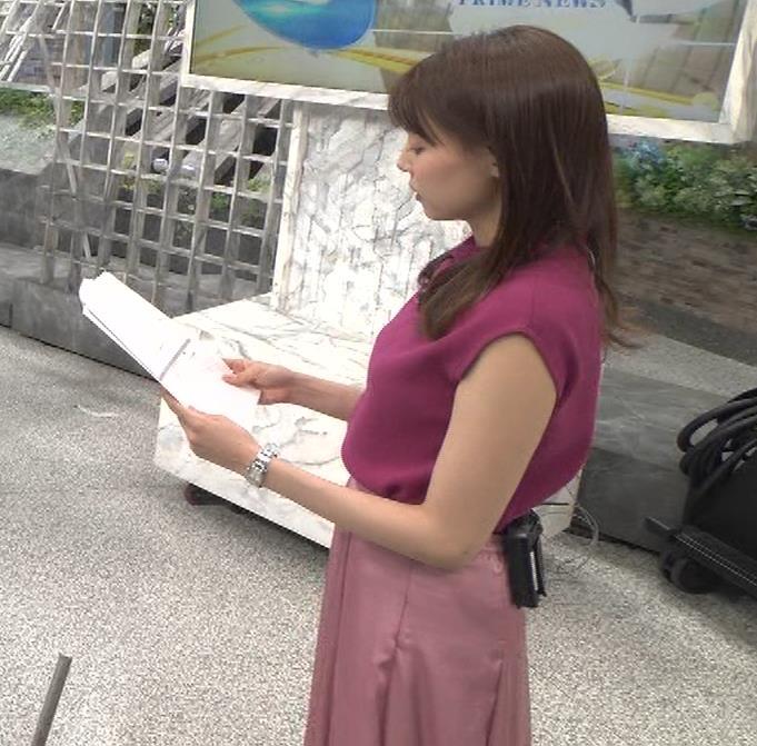 宮澤智アナ ノースリーブの横乳キャプ・エロ画像6