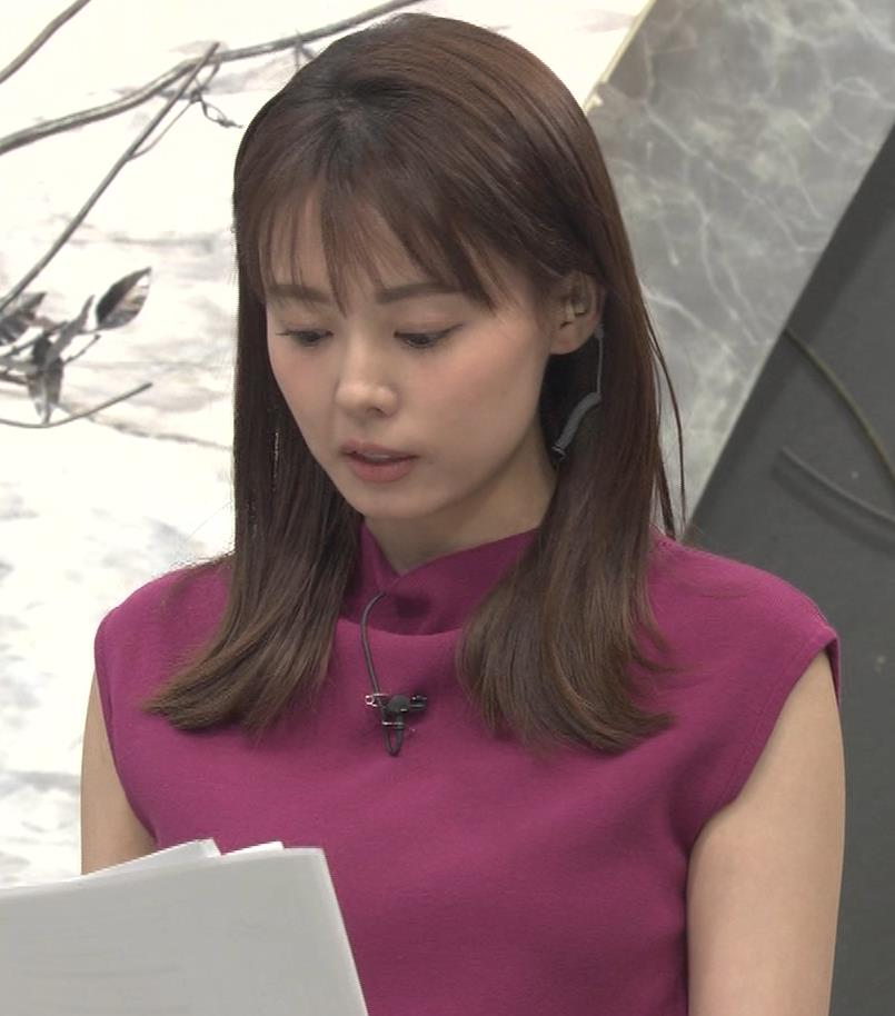 宮澤智アナ ノースリーブの横乳キャプ・エロ画像7