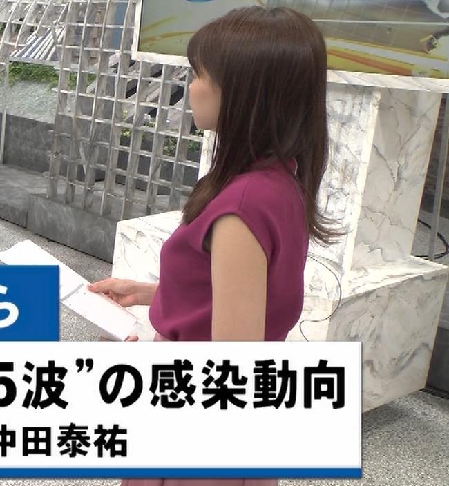 宮澤智アナ ノースリーブの横乳キャプ・エロ画像9