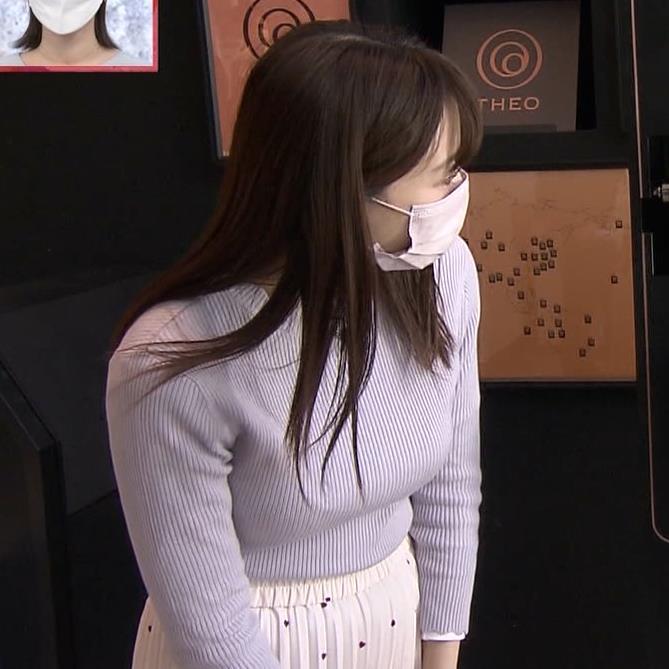 森香澄アナ ニットおっぱい!キャプ・エロ画像3