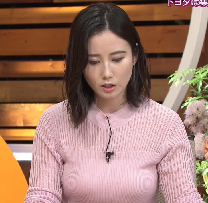 森川夕貴アナ おっぱいが際立つニットキャプ・エロ画像4