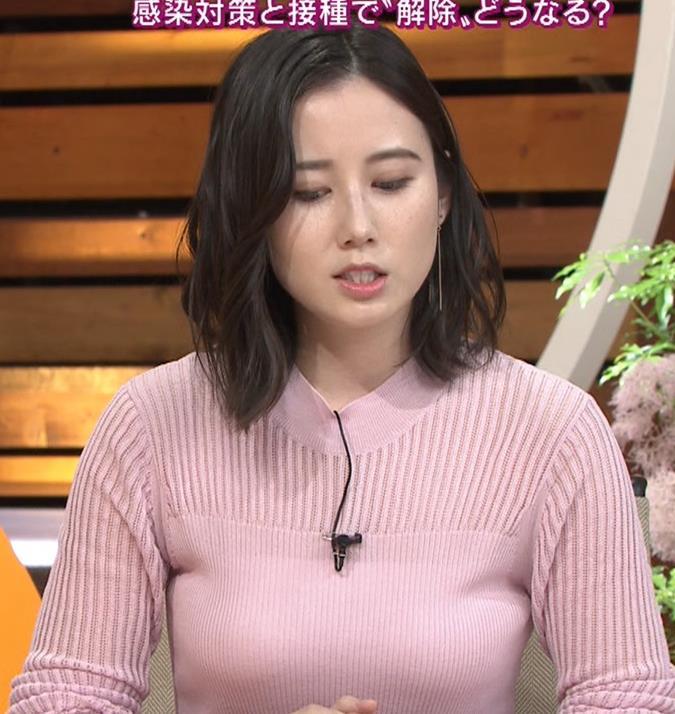 森川夕貴アナ おっぱいが際立つニットキャプ・エロ画像5