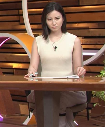 森川夕貴アナ セクシーなノースリーブキャプ・エロ画像6