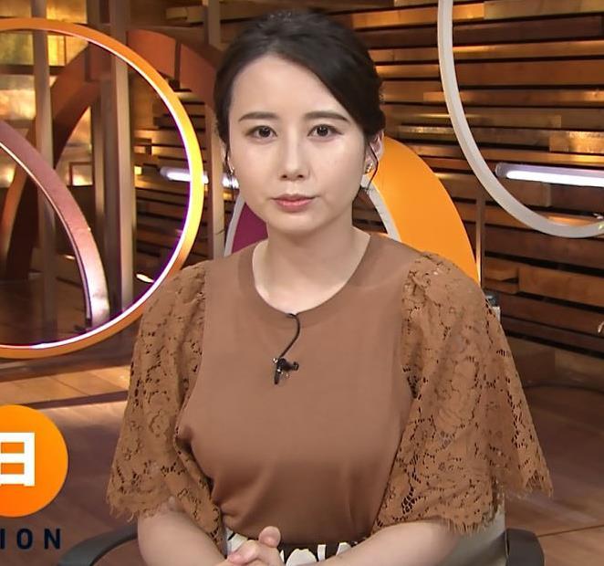 森川夕貴アナ でかい横乳のアップキャプ・エロ画像