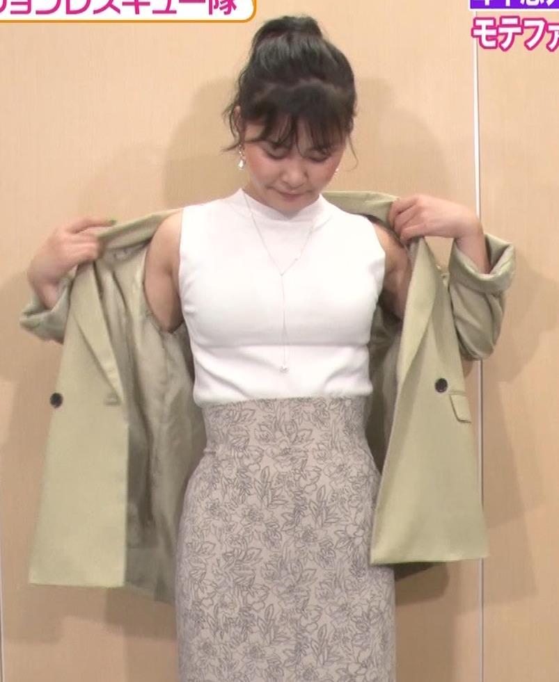 村上佳菜子 ピチピチのノースリーブが結構セクシーキャプ・エロ画像