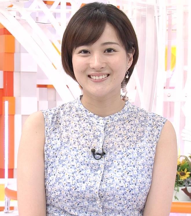 永尾亜子アナ ノースリーブ姿キャプ・エロ画像2