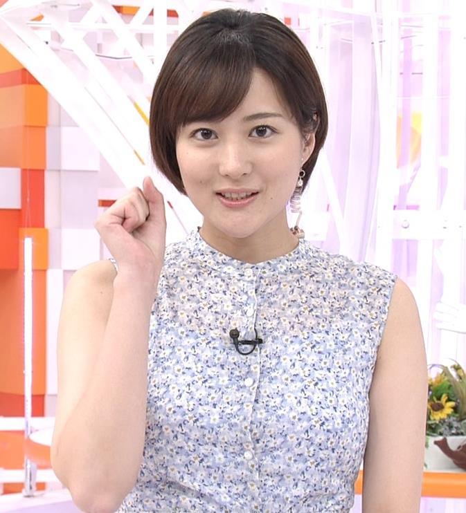 永尾亜子アナ ノースリーブ姿キャプ・エロ画像3