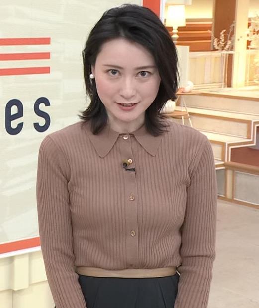 小川彩佳 ニットおっぱいキャプ・エロ画像5
