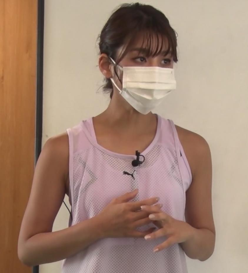 岡副麻希 トレーニングでエロキャプ・エロ画像4