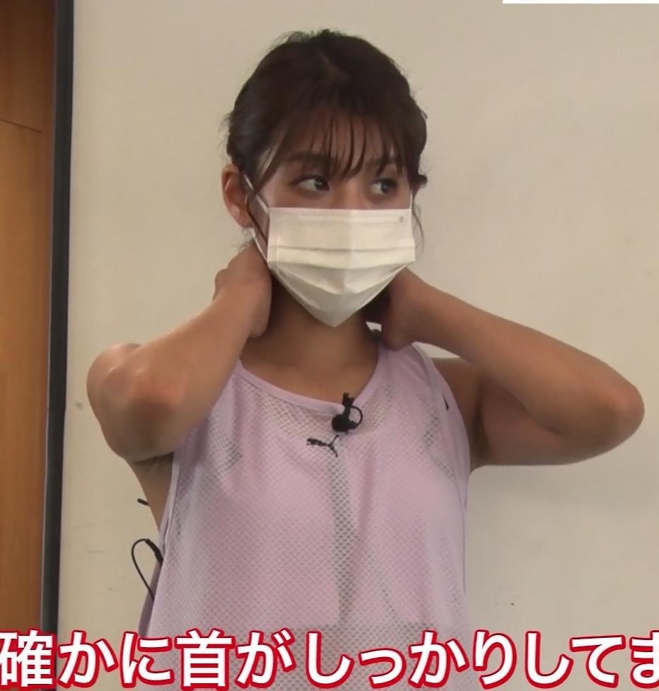 岡副麻希 トレーニングでエロキャプ・エロ画像7