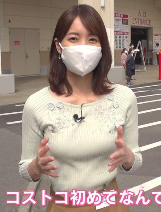 小野綾香アナ ニット横乳キャプ・エロ画像