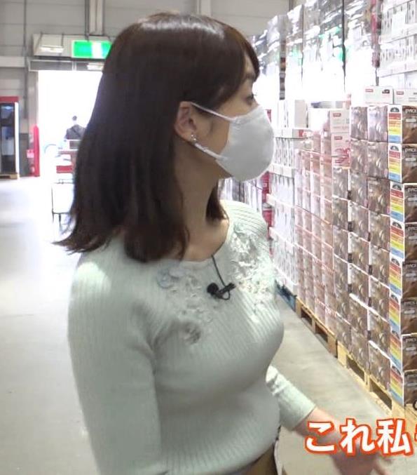 小野綾香アナ ニット横乳キャプ・エロ画像2