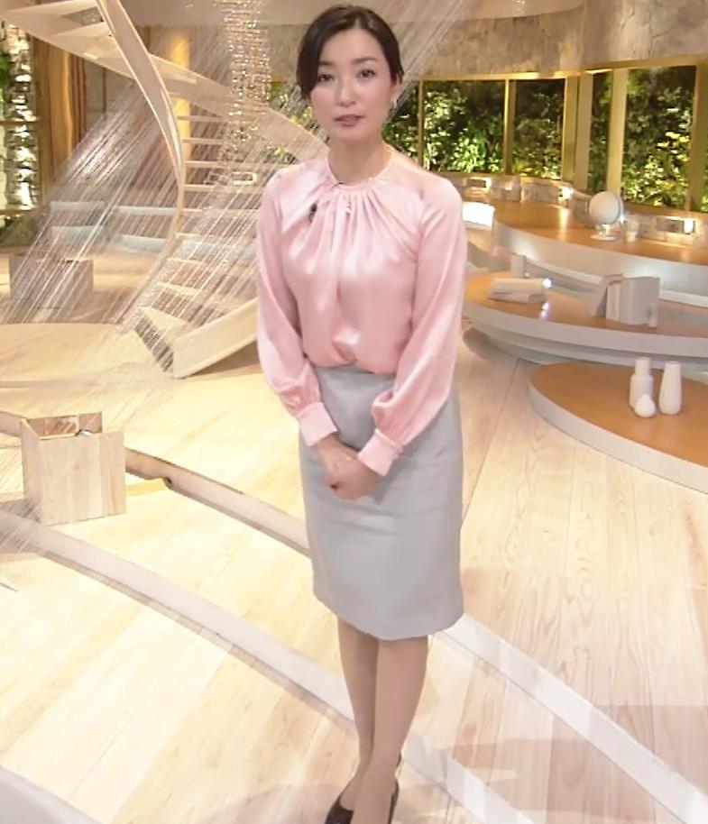 大江麻理子アナ スカート美脚キャプ・エロ画像3