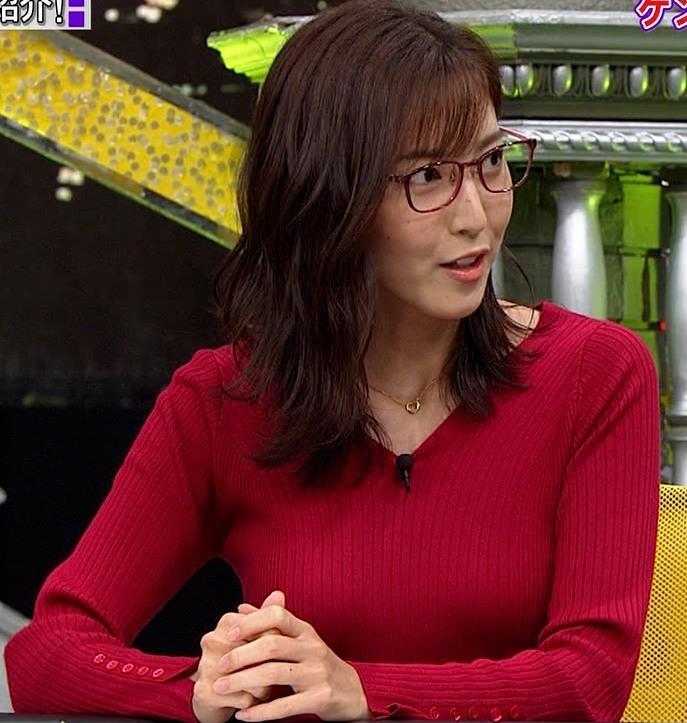 小澤陽子アナ エロいニットおっぱいと表情キャプ・エロ画像
