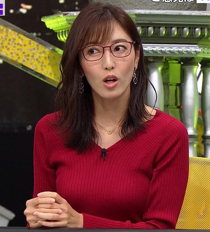 小澤陽子アナ エロいニットおっぱいと表情キャプ・エロ画像2