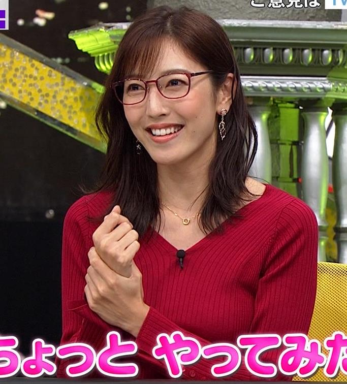 小澤陽子アナ エロいニットおっぱいと表情キャプ・エロ画像3
