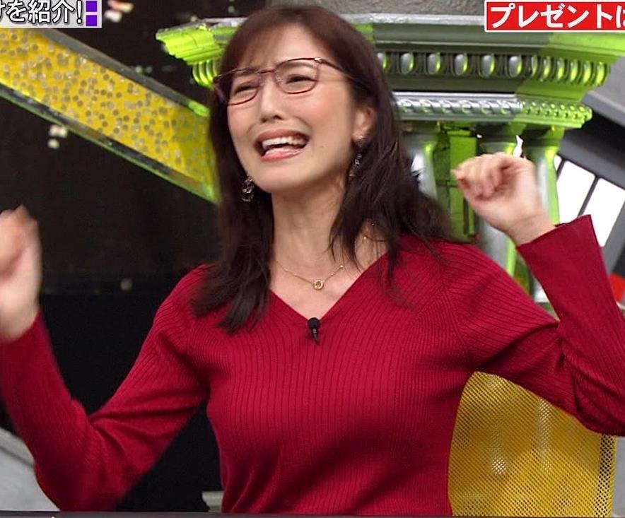 小澤陽子アナ エロいニットおっぱいと表情キャプ・エロ画像5
