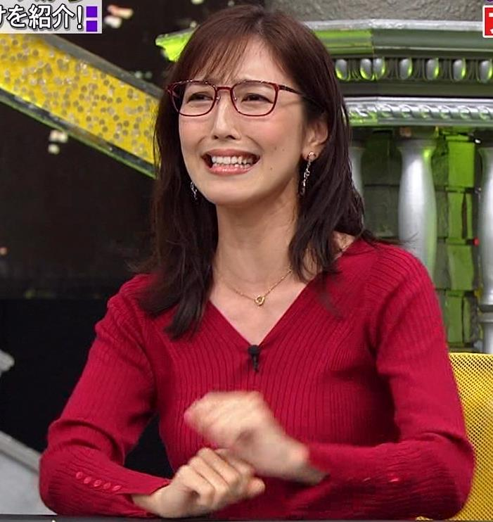 小澤陽子アナ エロいニットおっぱいと表情キャプ・エロ画像6