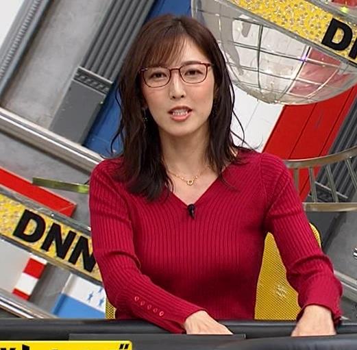 小澤陽子アナ エロいニットおっぱいと表情キャプ・エロ画像7