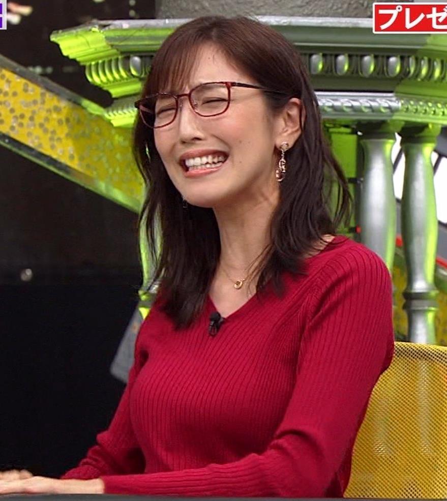 小澤陽子アナ エロいニットおっぱいと表情キャプ・エロ画像8