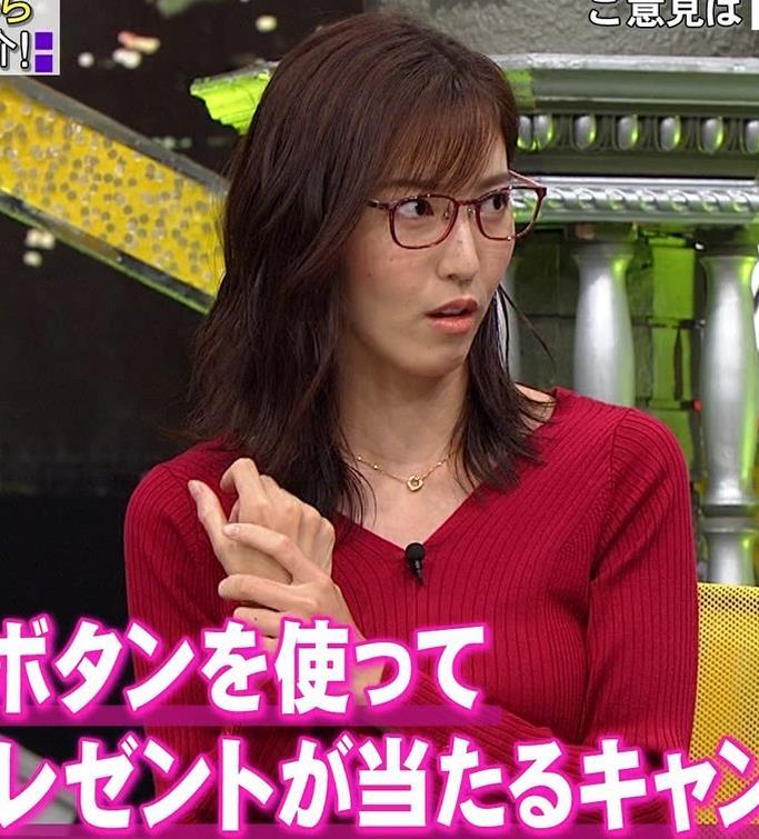 小澤陽子アナ エロいニットおっぱいと表情キャプ・エロ画像9