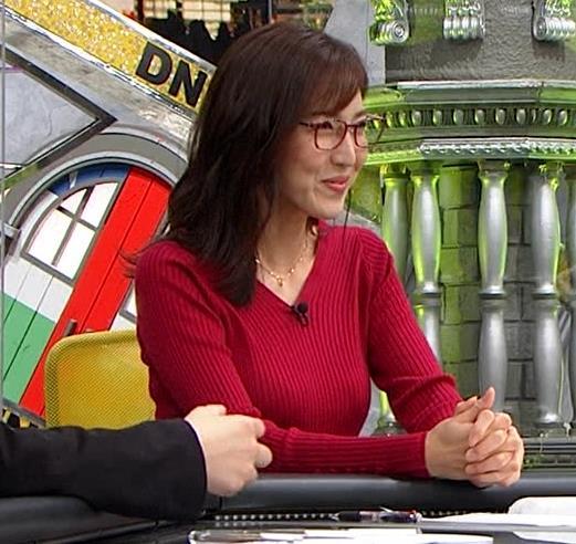 小澤陽子アナ エロいニットおっぱいと表情キャプ・エロ画像10