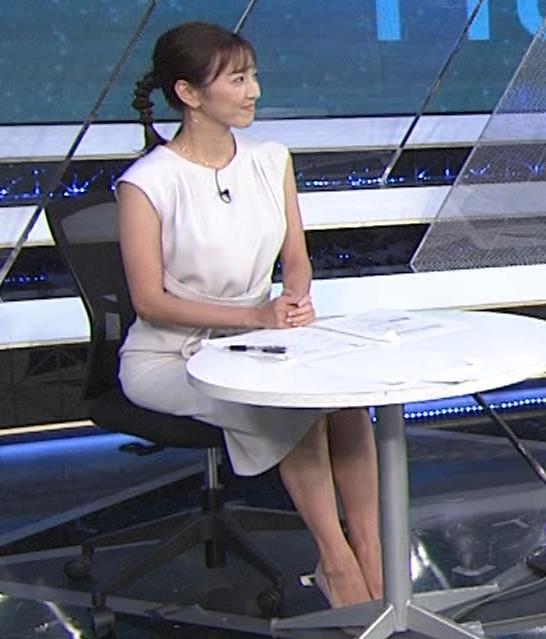 小澤陽子アナ 白いワンピースキャプ・エロ画像