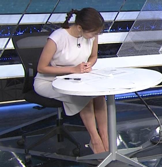 小澤陽子アナ 白いワンピースキャプ・エロ画像2