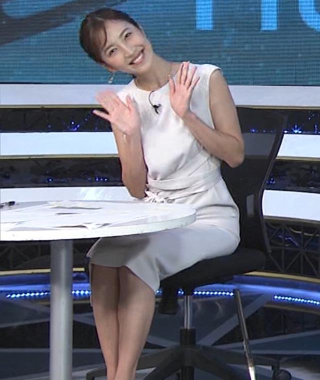小澤陽子アナ 白いワンピースキャプ・エロ画像11