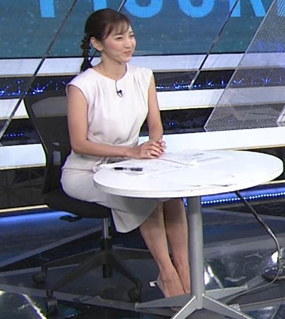 小澤陽子アナ 白いワンピースキャプ・エロ画像3