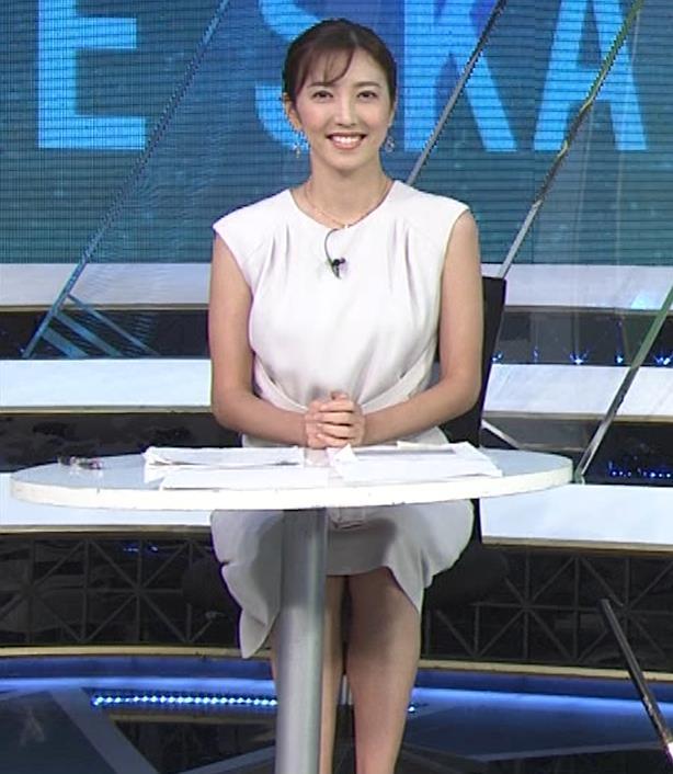 小澤陽子アナ 白いワンピースキャプ・エロ画像4