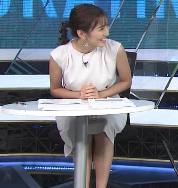 小澤陽子アナ 白いワンピースキャプ・エロ画像5