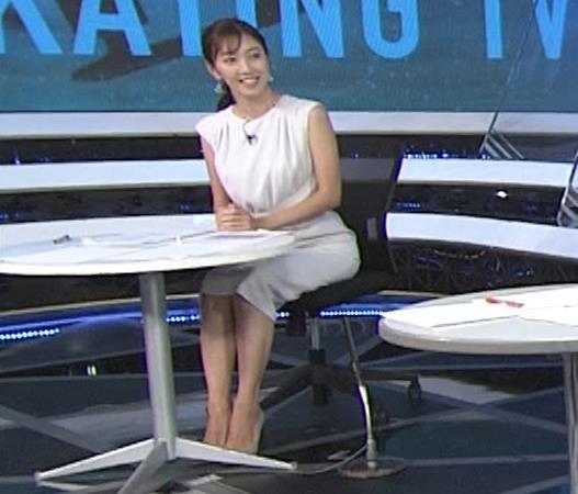 小澤陽子アナ 白いワンピースキャプ・エロ画像6