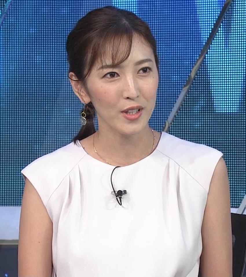 小澤陽子アナ 白いワンピースキャプ・エロ画像7