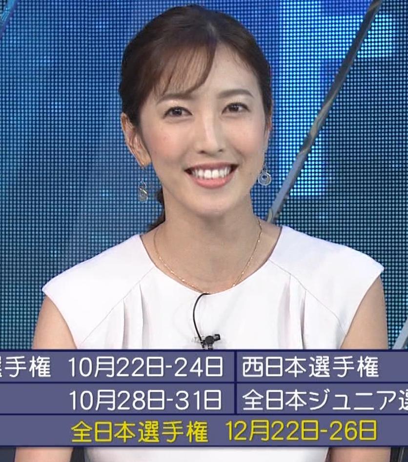 小澤陽子アナ 白いワンピースキャプ・エロ画像8